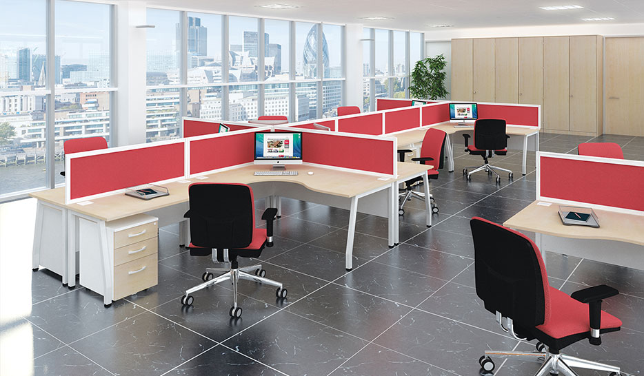 Eclipse Desking Is A Modular System Desk With A Bench Appearence